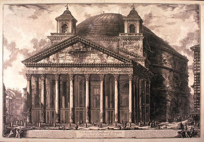 Так выглядел римский Пантеон в XVIII в. | Фото: trip-together.ru.