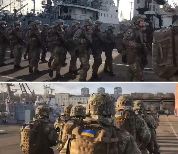 Катера ВМСУ и корабли НАТО в…