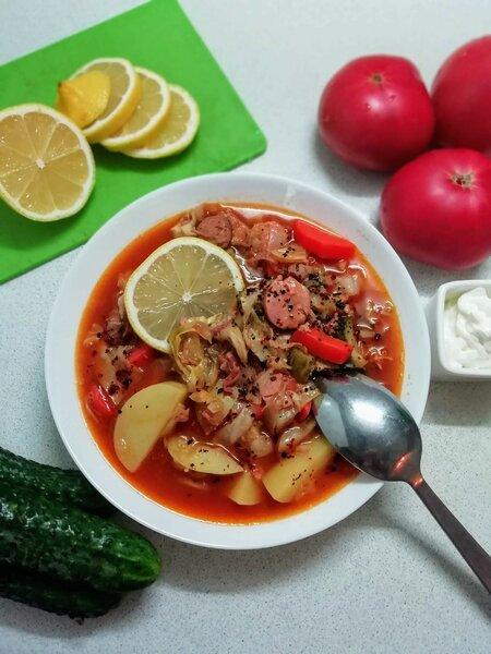 Моя домашняя летняя сборная солянка. Рецепт кулинария,солянка,супы