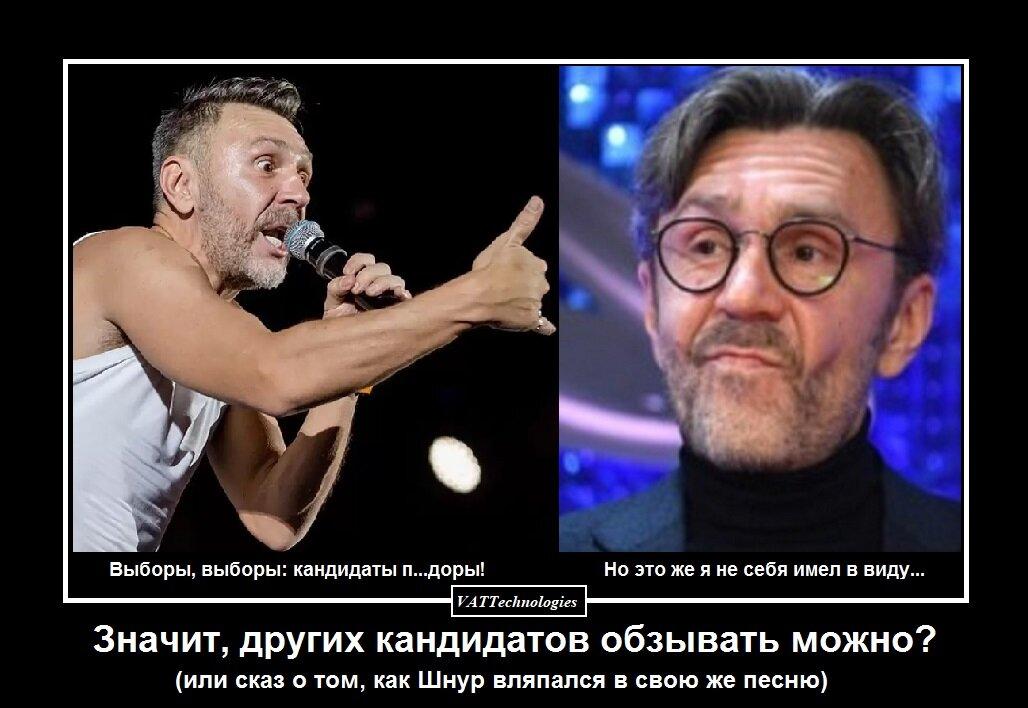 Выборы, выборы или сказ о том, как Шнуров стал героем своей же песни