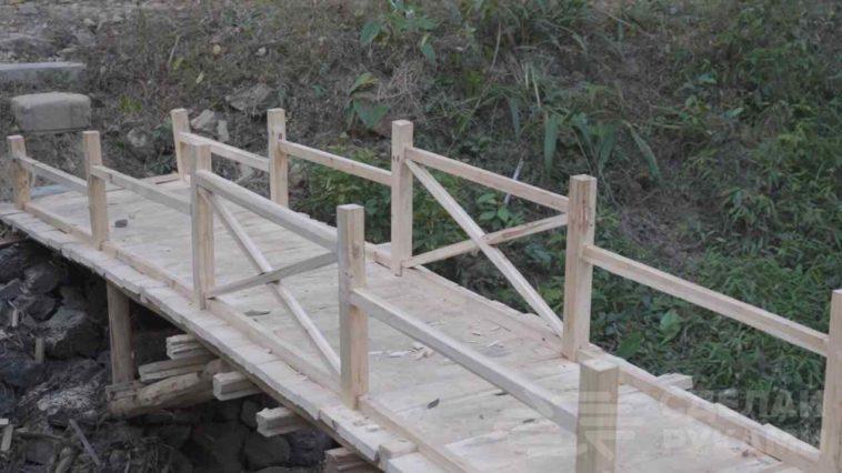 Мост из дерева по китайской технологии: без единого гвоздя