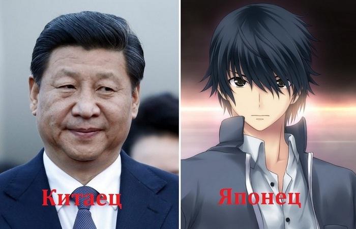 «Все на одно лицо»: как правильно определить китайца, японца и корейца внешность,интересное,Китай,Корея,национальность,общество,отличия,Япония