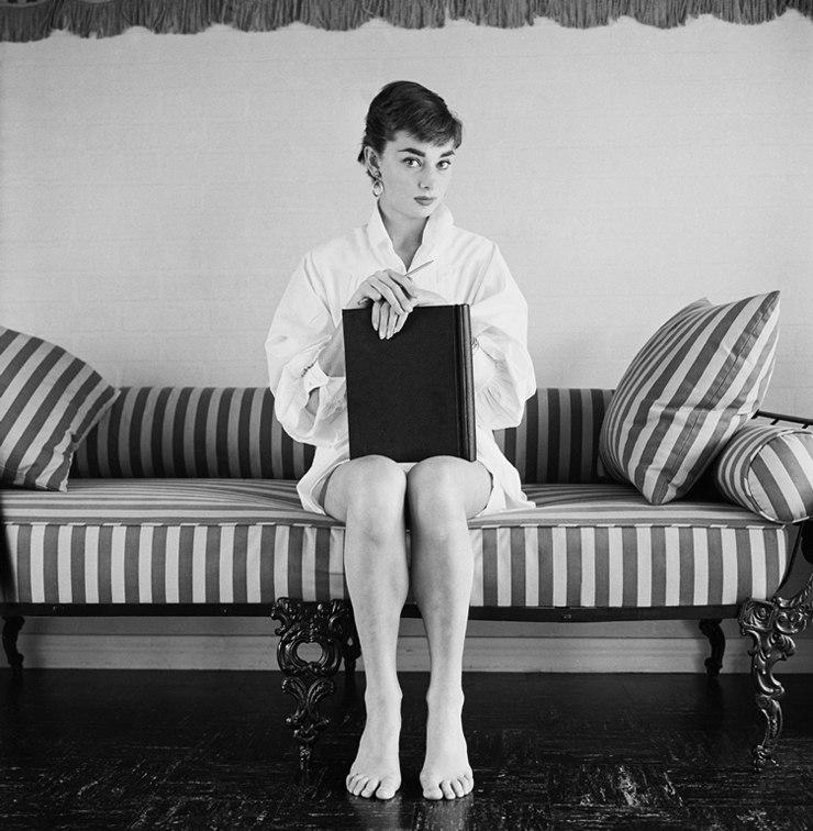 Одри Хепбёрн в объективе фотографа Марка Шоу, 1953 год.