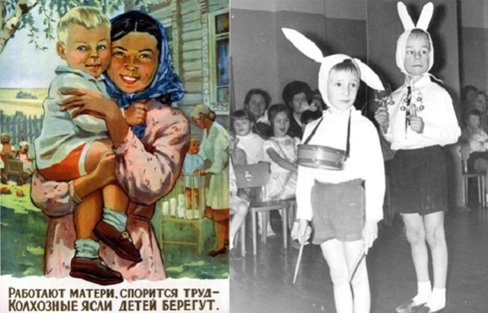 От СССР до наших дней: Детсадовская детвора на фотографиях разных лет