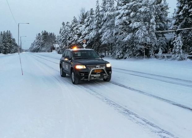 Финны испытали беспилотный автомобиль на заснеженных дорогах общего пользования