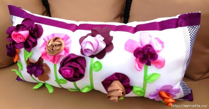 Самая цветочная подушка: мастер-класс домашний очаг,,женские хобби,поделки,Подушка,рукоделие,своими руками,сделай сам,умелые руки