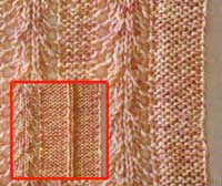 В помощь вязальщицам... Вязание спицами - планки, цельно-вязаные с полочками.