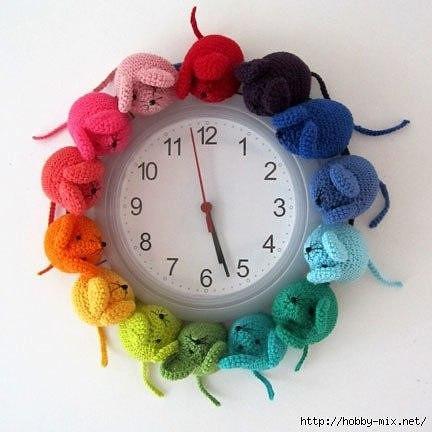 Вязаные часы - идеи