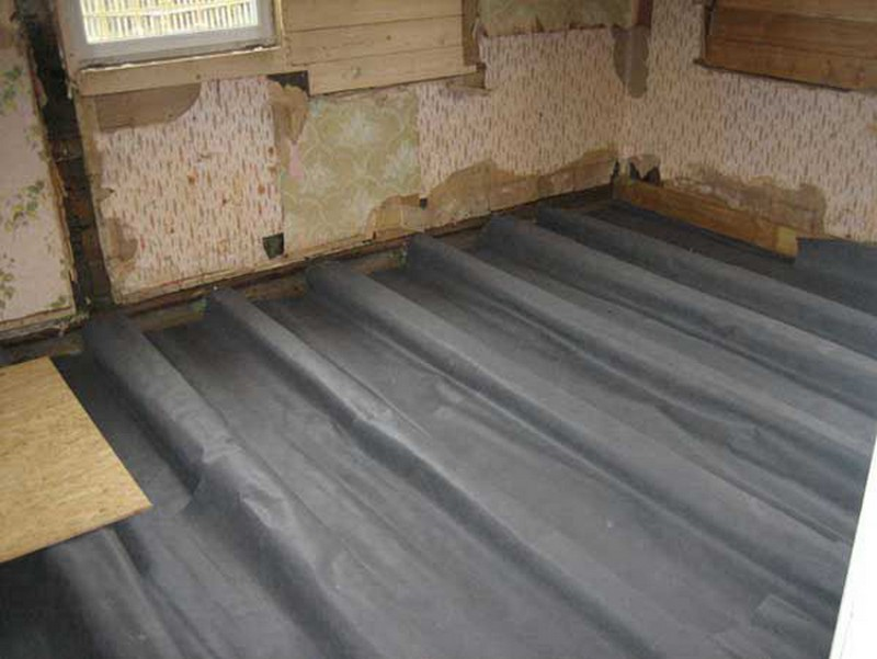 рубероид под бетонный пол