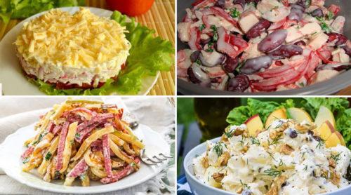 Отличная подборка из 10 самых вкусных и быстрых салатов кулинария,рецепты,салаты