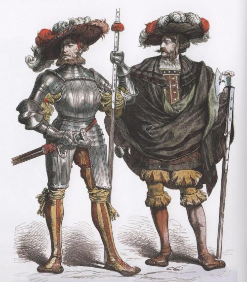 Доспехи европа, история. оружие, ландскнехты