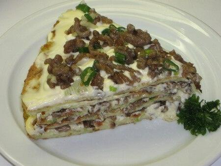 Кабачковый пирог с мясом и грибами — супер закуска