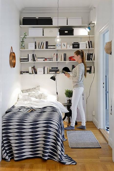 8. Спальня книголюба