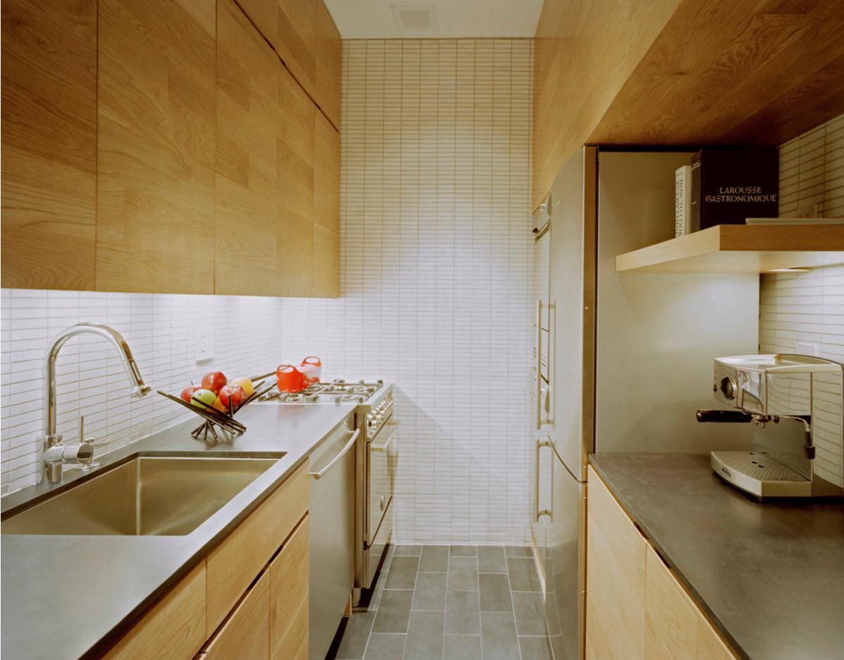 Параллельная планировка в небольшой кухне