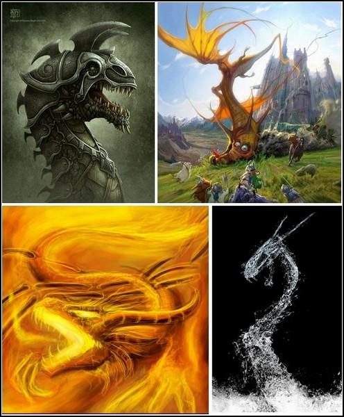Мир драконов: древние существа в современном искусстве