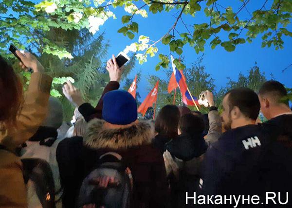 митинг против строительства храма в сквере у Театра драмы, Екатеринбург(2019)|Фото: Накануне.RU