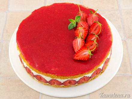 Торт «Фрезье» — 16 шаг