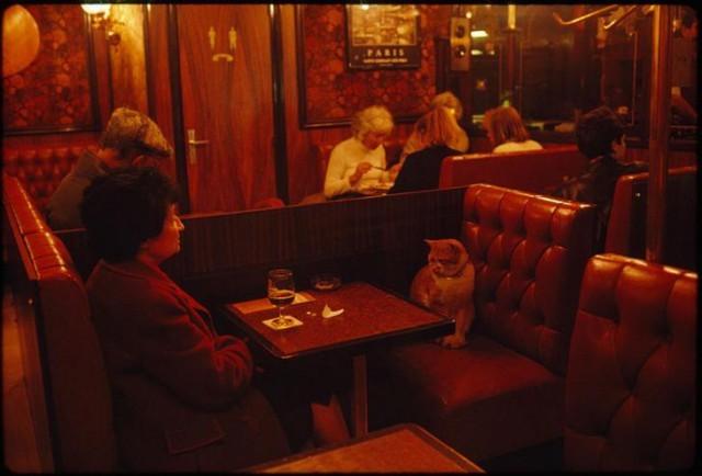 Завсегдатаи кафе в Париже, май 1988 год national geographic, неопубликованное, фото