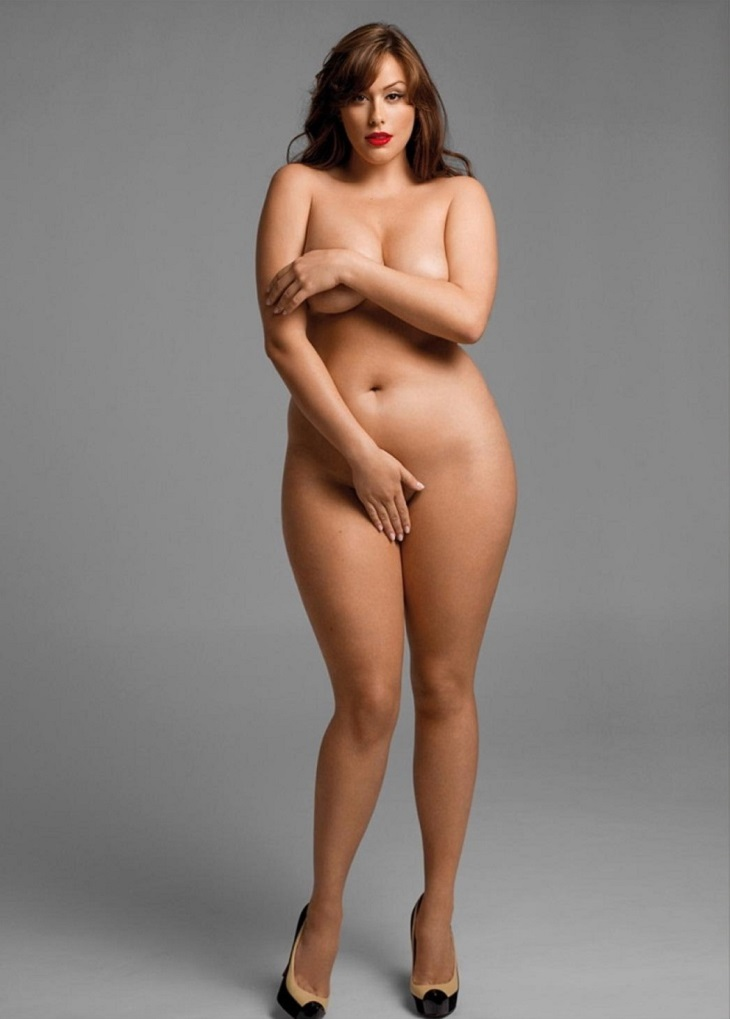 Plus size nude small breast