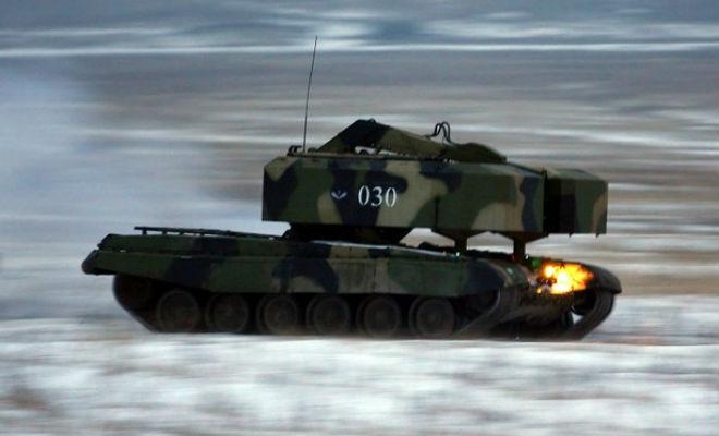 ТОС-1А Солнцепек: эволюция советской Катюши БМП,Катюша,Пространство,система залпового огня,солнцепек,танк,ТОС-1