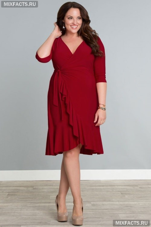 Фасоны платьев для полных женщин с животом