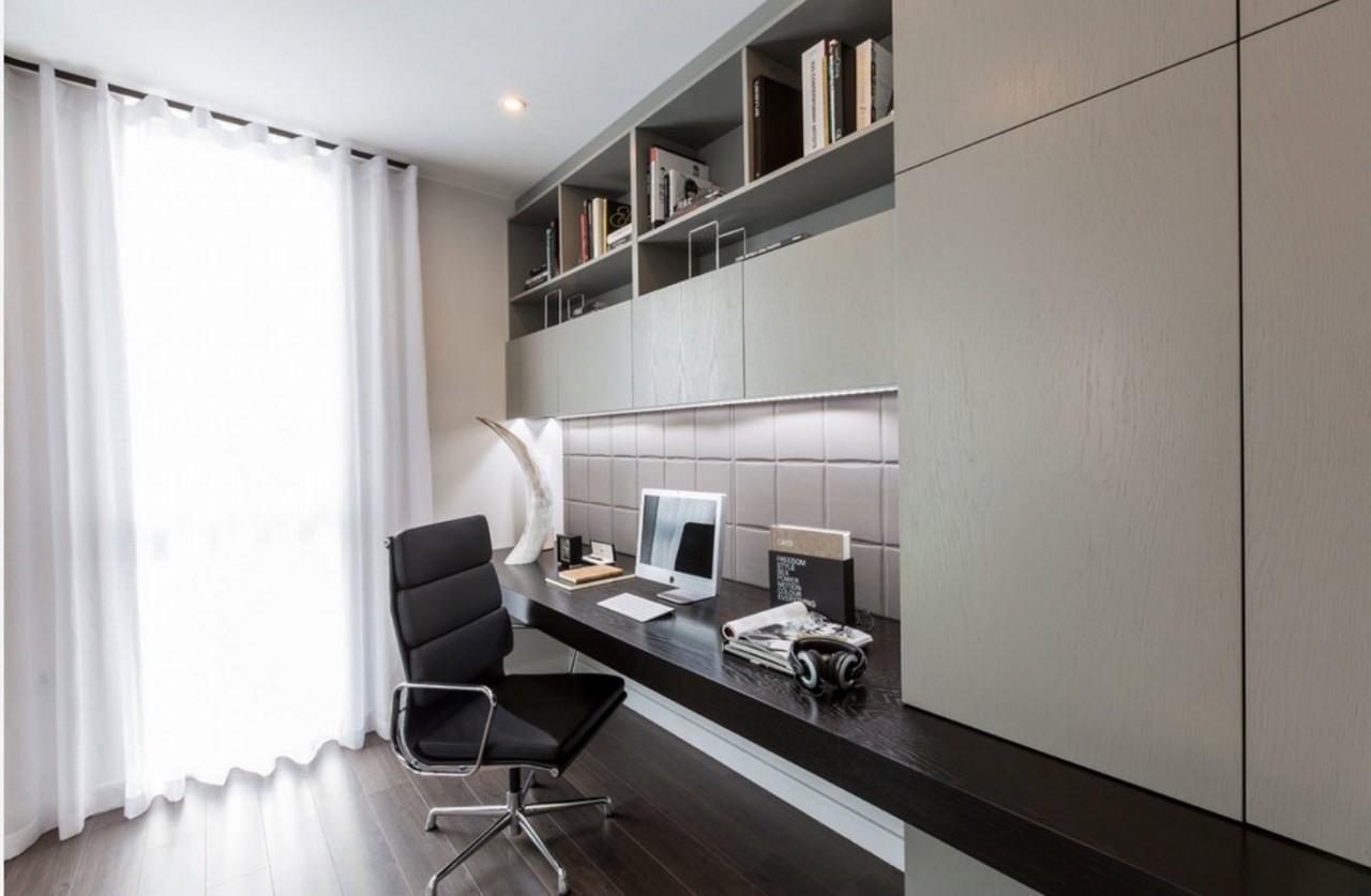 Контрасты в дизайне кабинета