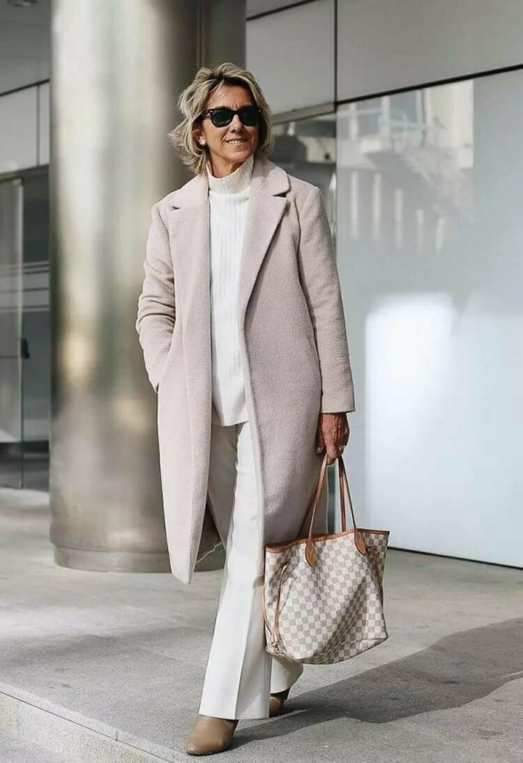 Образы в пальто для женщин 50+ внешность,гардероб,красота,мода,мода и красота,модные образы,модные сеты,модные советы,модные тенденции,обувь,стиль,стиль жизни,уличная мода,фигура