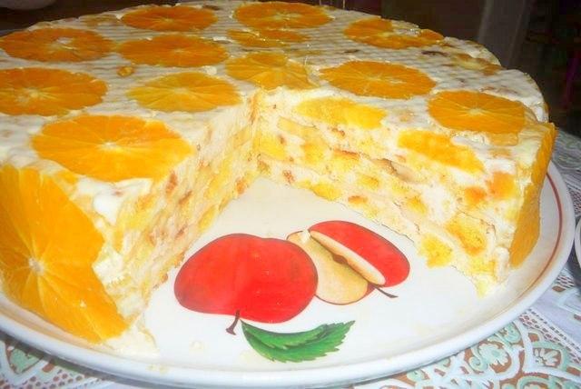 """Торт """"Фруктовая нежность"""""""