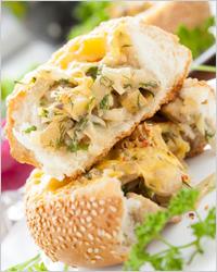 Бутерброды с курицей и сыром