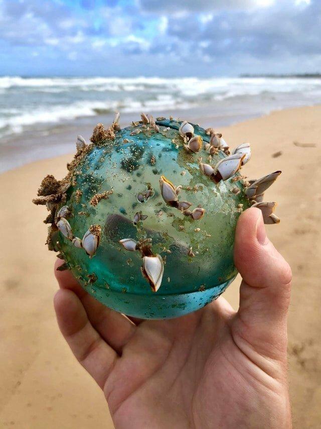 11. «Мы с женой нашли этот стеклянный шарик, прогуливаясь по пляжу на Гавайях» в мире, вещи, интересно, находка, пляж, удивительно