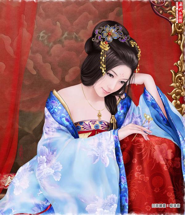 Красавицы китайских мастеров живописи живопись