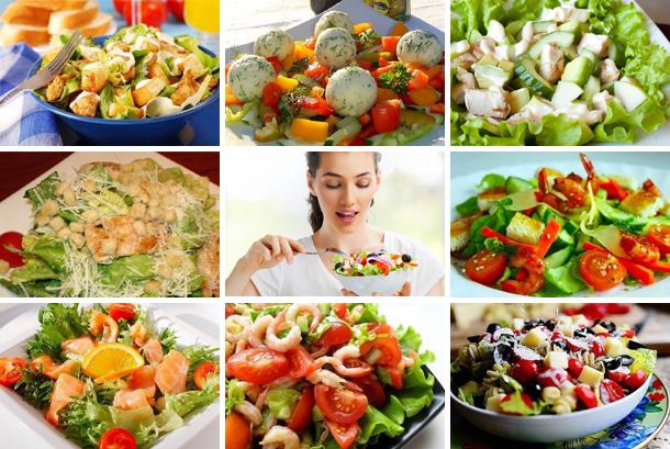 8 лучших рецептов салатов без майонеза. Празднично, вкусно, и полезно!