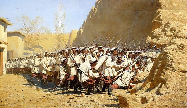 Верещагин «У крепостной стены» 1871