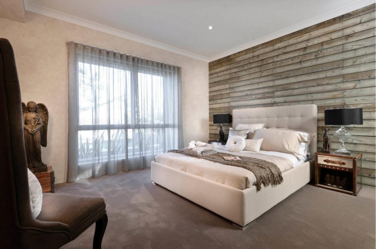 Серый тюль для спальни