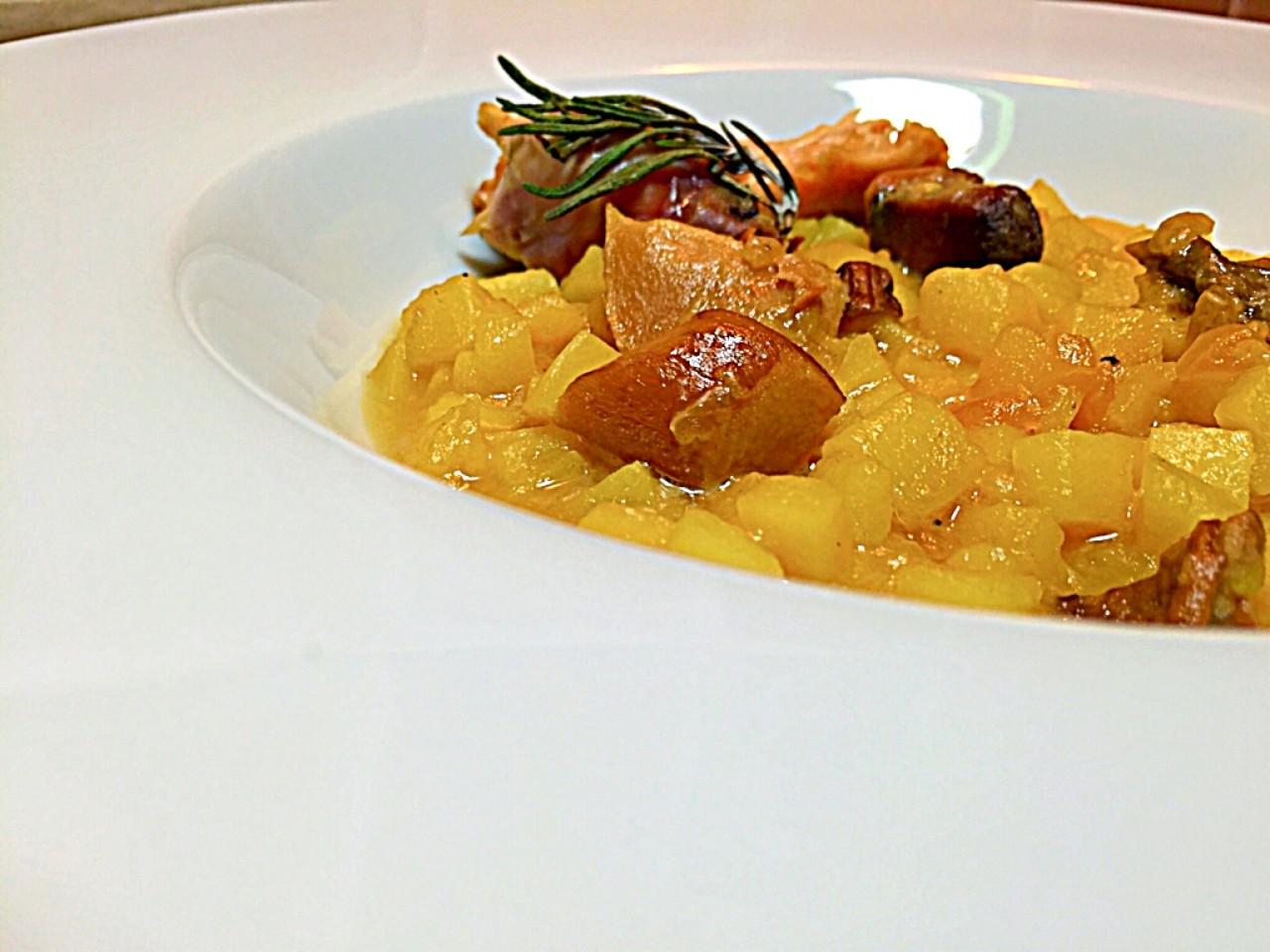 Ризотто из картофеля, два рецепта с кроликом