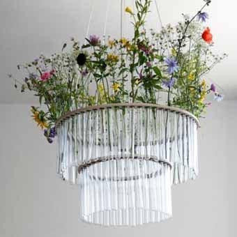 лампа с живыми цветами своими руками