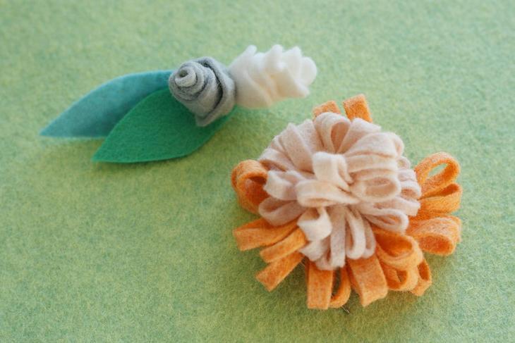 Делаем брошь-цветок из фетра