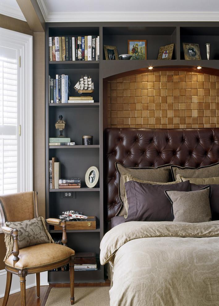 Спальня в цветах: Бежевый, Светло-серый, Серый, Темно-коричневый, Черный. Спальня в стиле: Классика.