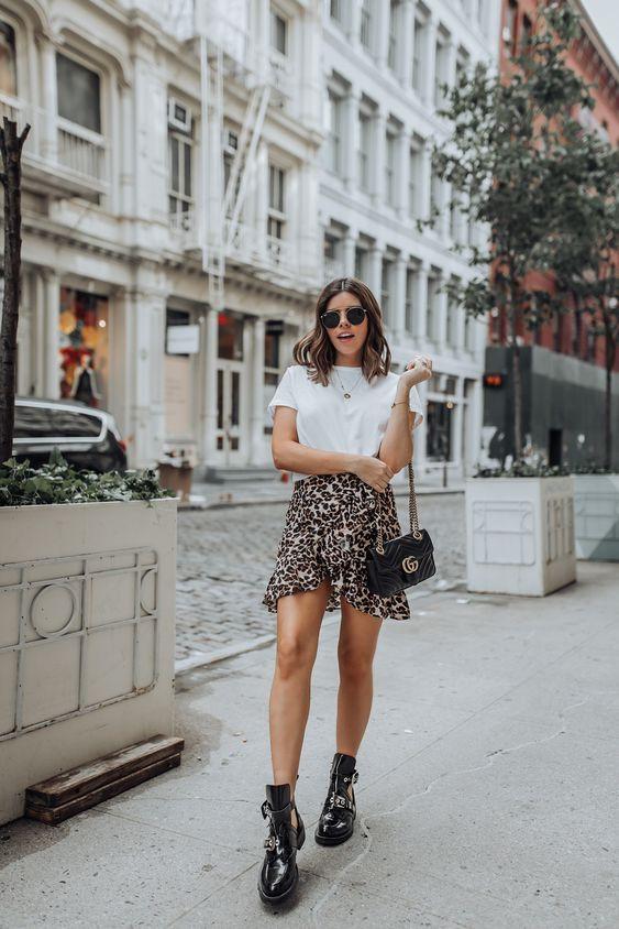 Леопардовая юбка мини