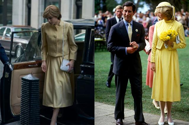 """В жизни и на экране: сравниваем наряды принцессы Дианы из сериала """"Корона"""" с оригиналами Новости моды"""