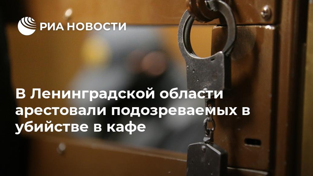 В Ленинградской области арестовали подозреваемых в убийстве в кафе Лента новостей