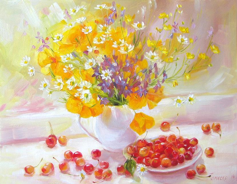 Яркое, солнечное настроение в картинах Юлии Томеско-Мазманян