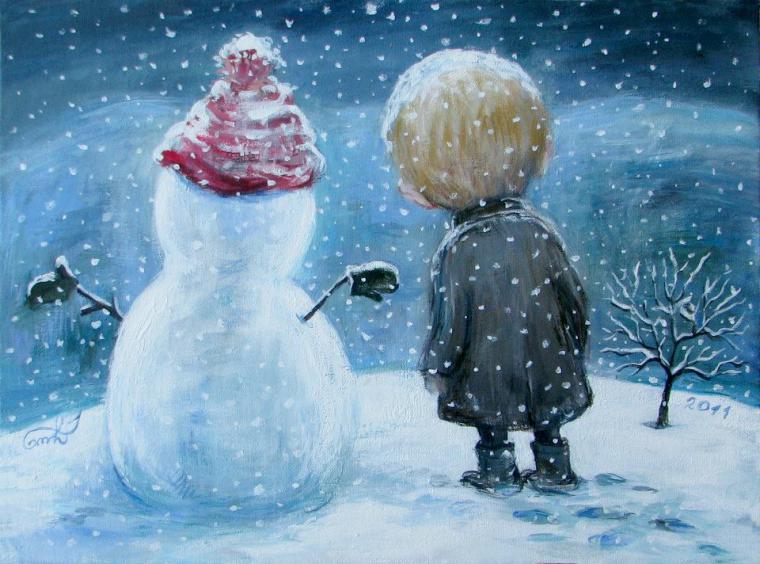 Зимняя сказка Нино Чакветадзе: теплые и добрые картины вдохновляемся,мастерство,творчество