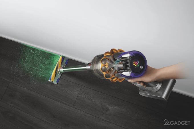 Анонсирован беспроводной пылесос Dyson V15 Detect с лазерным наведением на мусор автоматика,бытовая техника,гаджеты,роботы,Россия,техника,технологии,электроника
