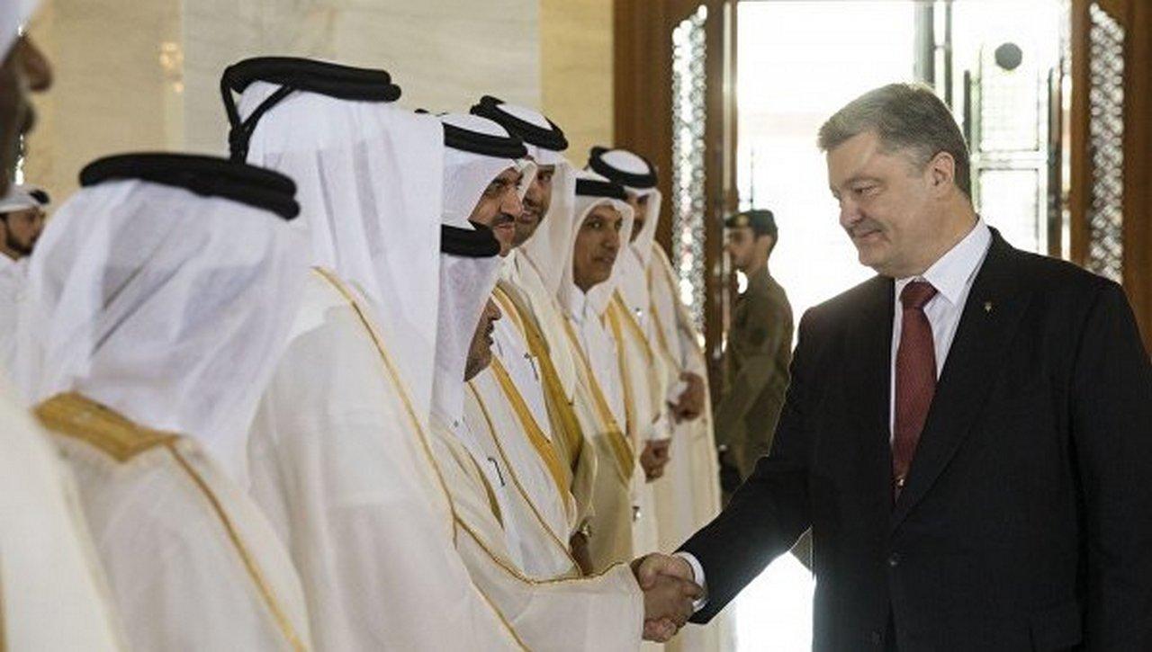 Порошенко в Кувейте и Катаре: грелся, пока на Украине зима