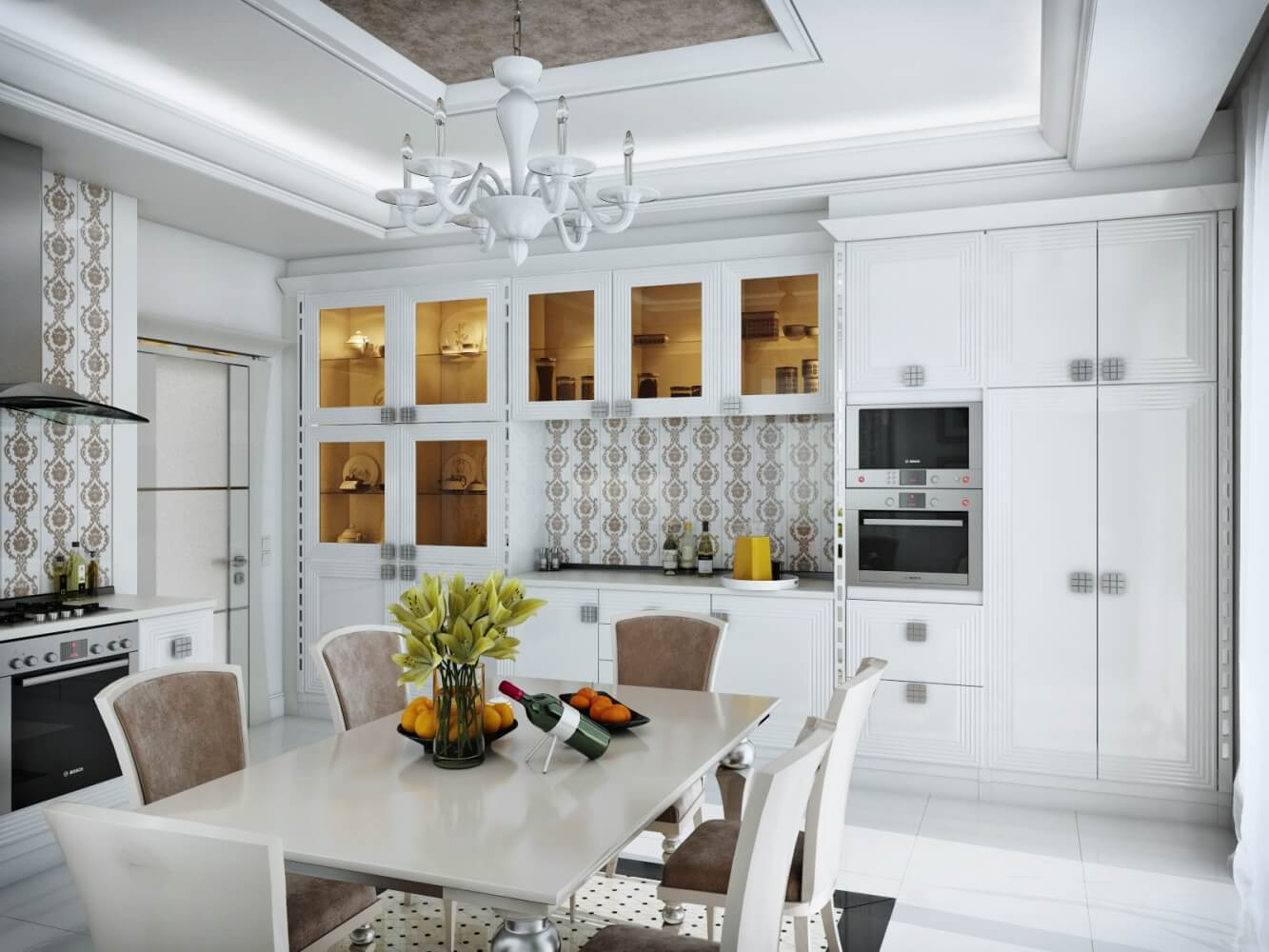 дизайн кухни в стиле арт деко фото озвучил намерение поставить