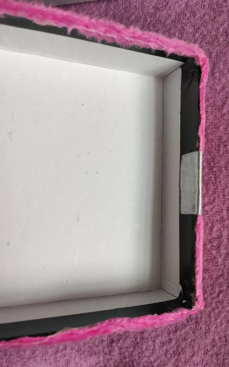Как я добавила к обычной коробке губку для мытья и получила вместительную шкатулку хитрости,шкатулка