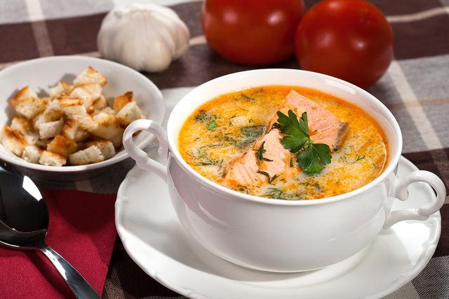 Норвежский суп из семги
