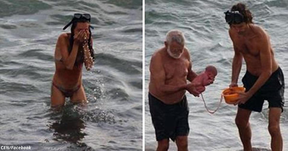 Туристка из России родила прямо в Красном море! И эти фото теперь везде!
