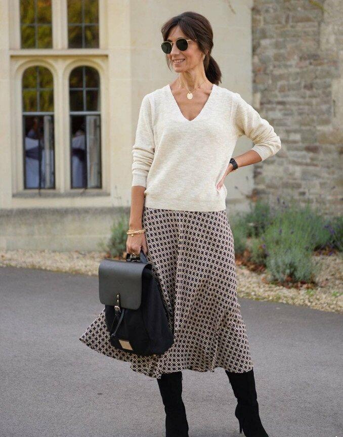 Модели юбок, которые красиво смотрятся на взрослых женщинах